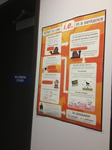 The Oatmeal's grammar posters grace the walls of the Star's training room.
